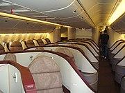 Boeing 777-300ER Première class seats.