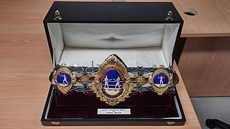 Lonsdale Belt - The original Challenge Belt design presented by the National Sporting Club 1909–1929