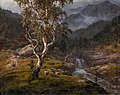 Johan Christian Dahl - View of a Birch Tree in Hallingdal - Dalføre med foss - KODE Art Museums and Composer Homes - BB.M.00145.jpg
