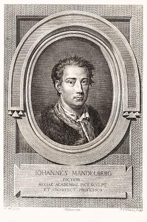 Johan Edvard Mandelberg - Johan Mandelberg. Engraving by Johan Frederik Clemens.