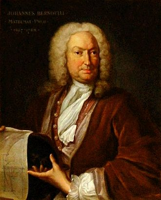 Johann Bernoulli - Johann Bernoulli (portrait by Johann Rudolf Huber, circa 1740)