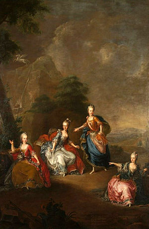 Archduchess Maria Amalia of Austria - Maria Amalia with her sisters, Liesl, Josepha and Charlotte in 1765.