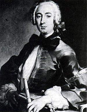 Johann Joachim Quantz - A portrait of Johann Joachim Quantz