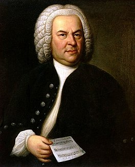 Portret van Bach in 1748 door de Duitse schilder Elias Gottlieb Haussmann (1695-1774) (tweede versie)