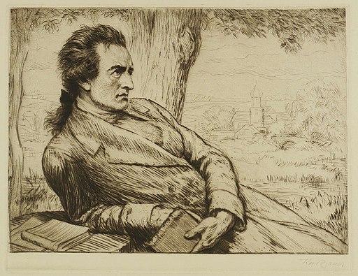 Johann Wolfgang von Goethe by Karl Bauer, c. 1920