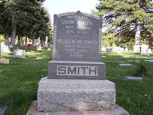 John Smith (nephew of Joseph Smith) - John Smith's grave marker
