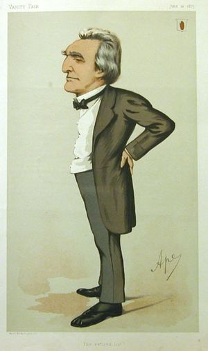 "Sir John Dalrymple-Hay, 3rd Baronet - ""The retired list"" Dalrymple-Hay as caricatured by Ape (Carlo Pellegrini) in Vanity Fair, June 1875"