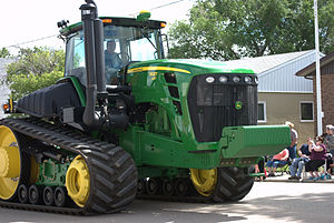 John Deere 9630 - A 9630T, a 9630 with rubber tracks