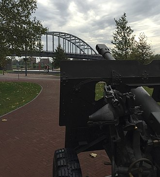 Arnhem - The John Frost Bridge, seen from the Airborne memorial