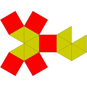 Elongated pentagonal bipyramid - Image: Johnson solid 16 net