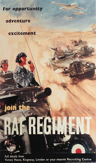 RAF Regiment - A recruiting poster from the 1950s.