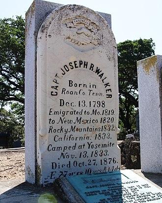 Joseph R. Walker - Walker's grave at the Alhambra Cemetery, Martinez California