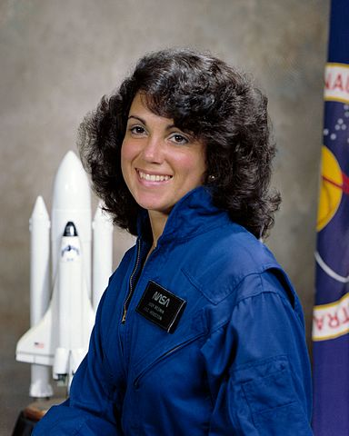 Astronaut Judy Resnik, NASA photo (21 September 1978)Source: Wikipedia (NASA site unavailable January 2019) 384px-Judith_A._Resnik%2C_official_portrait.jpg