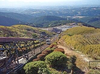 Jukkokutōge Cable Car - View form Jukkokutōge station.