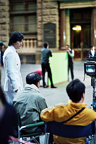 Jung Woo-sung - Jung Woo-sung on set in 2008