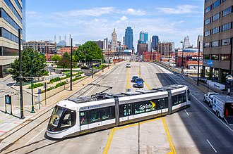 Kansas City Streetcar near Union Station KC Streetcar (26813012241).jpg