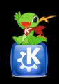KDE Mascot Konqi with KDE Oxygen logo.png