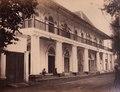 KITLV - 155218 - Buwalda, K. - Soerabaija - Office of the Dutch-Indies Commercial Bank and a shop in Surabaya - 1865.tif