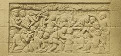 KITLV 40065 - Kassian Céphas - Relief of the hidden base of Borobudur - 1890-1891.jpg
