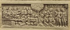 KITLV 40088 - Kassian Céphas - Relief of the hidden base of Borobudur - 1890-1891.jpg