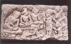KITLV 87778 - Isidore van Kinsbergen - Hindu-Javanese relief comes from Kediri, moved to the Museum of the Batavian Society of Arts and Sciences in Batavia - Before 1900.tif