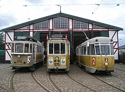 KS 100, KS 575 and KS 701 at Sporvejsmuseet.JPG