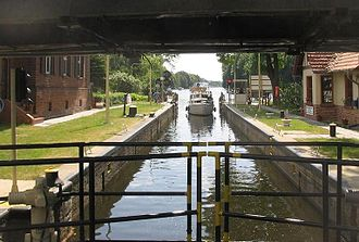 Dahme (river) - The lock at Neue Mühle near Königs Wusterhausen