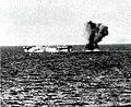 Kamikaze crashes aft of USS Lunga Point (CVE-94) on 4 January 1945.jpg
