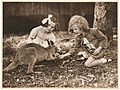 Kangaroo and girls, ca. 1925-ca. 1945 - by Sam Hood (3210637533).jpg