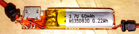 Kapton tape (yellow) used to insulate the leads of a battery cell in a bluetooth headset. Kapton Tape.png
