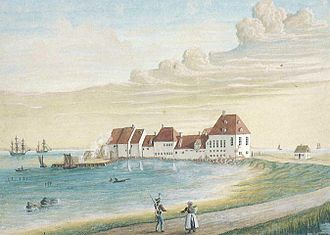 Jacob Fortling - Kastrup Værk, established by Fortling between 1749 and 1753, watercolour by an unknown artist (1730)