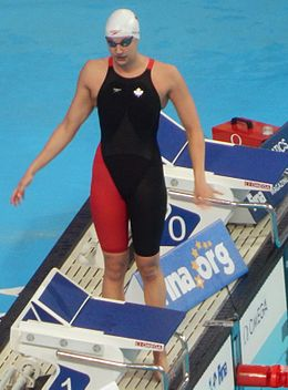 Kazan 2015 - 100m freestyle semi Chantal van Landeghem.JPG
