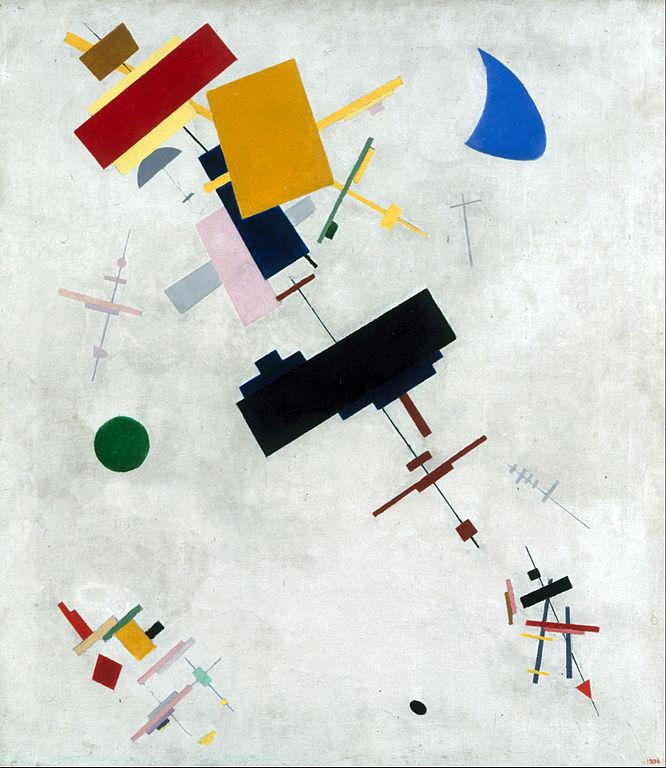 Suprematisme, oeuvre abstraite de Kazimir Malevich (1915) au musée d'art russe de St Petersbourg.