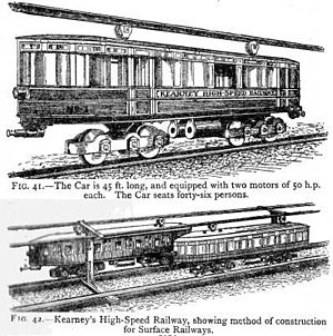 Edgware Road Tube schemes - Sketches published in 1915 of Kearney's underground monorail system