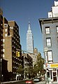 Keleti 35. utca a Második sugárút kerszteződéséből nézve, a háttérben az Empire State Building. Fortepan 85132.jpg