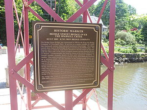 Sparkill Creek Drawbridge - Image: King Iron Bridge Marker