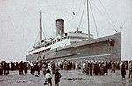 King Orry (III) aground at New Brighton..JPG