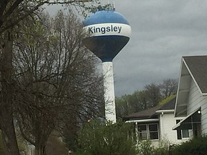 Kingsley, Iowa - Image: Kingsley, Iowa Water Tower