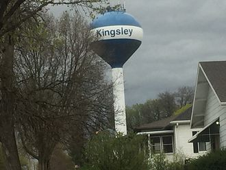 Kingsley, Iowa - The current water tower