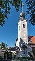 Klagenfurt Hoertendorf Pfarrkirche hl Jakobus major Kirchturm 21092015 7647.jpg