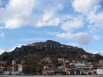 Knin - View of the Knin Fortress from the city center