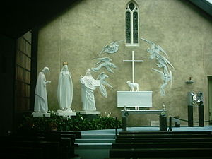 Knock Shrine - Altar sculpture at Knock, based on accounts of the apparition.