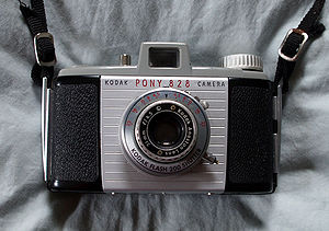 828 film - Kodak Pony 828, Kodak's last 828 camera in the US.
