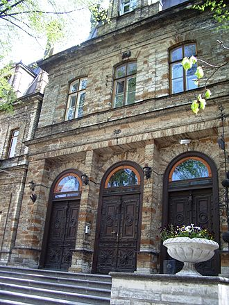 Estonian Academy of Sciences - Ungern-Sternberg palace on Toompea, nowadays the main building of Estonian Academy of Sciences (Kohtu Street 6, built 1865–1868, architect Martin Gropius)