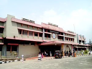 Kollam district - Entrance of Kollam Junction railway station