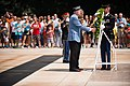 Korean War Veterans Association, Inc. President Larry Kinard and Ambassador of the Republic of Korea Ahn Ho-Young lay a wreath at the Tomb of the Unknown Soldier in Arlington National Cemetery (20030262205).jpg