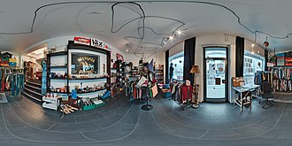 Give-away shop - Image: Kost Nix Laden Bochum Panorama