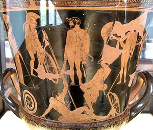 Argonauts - Gathering of the Argonauts, Attic red-figure krater, 460–450 BC, Louvre (G 341).