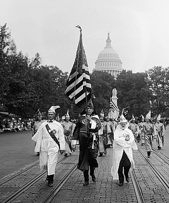 White supremacy - Ku Klux Klan parade in Washington, D.C. in 1926