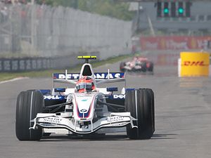2007 Canadian Grand Prix - Robert Kubica leaves the pits during qualifying